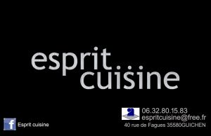 Esprit cuisine fond noir